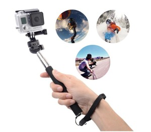 Extendable-Handheld-Selfie-Stick-Telescopic-Monopod-Tripod-Adapter-Mount-For-GoPro-Hero-1-2-3-for